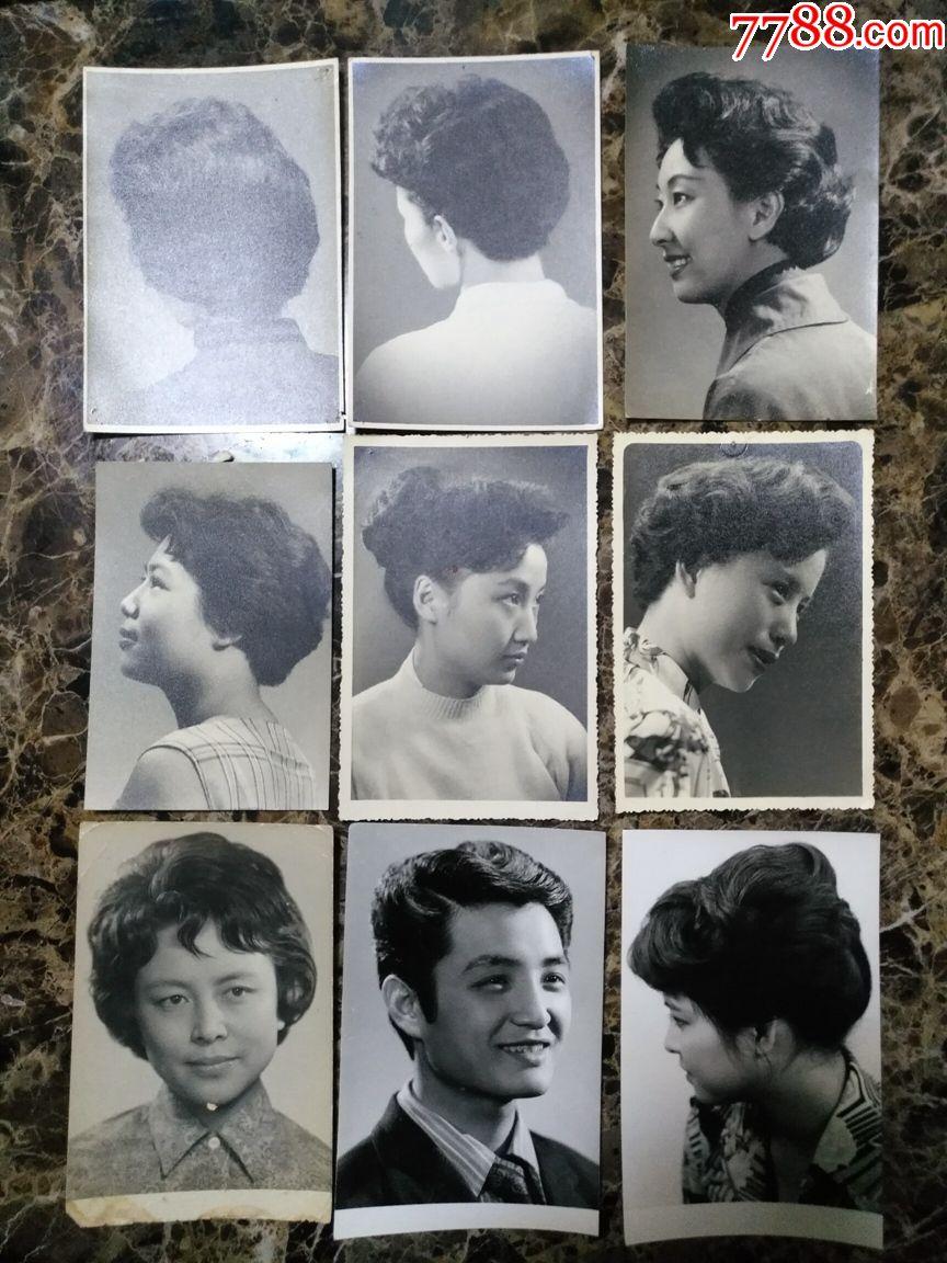 50年代到80年代上海发型照50张,怀旧好素材,尺寸4寸(明信片大小)图片