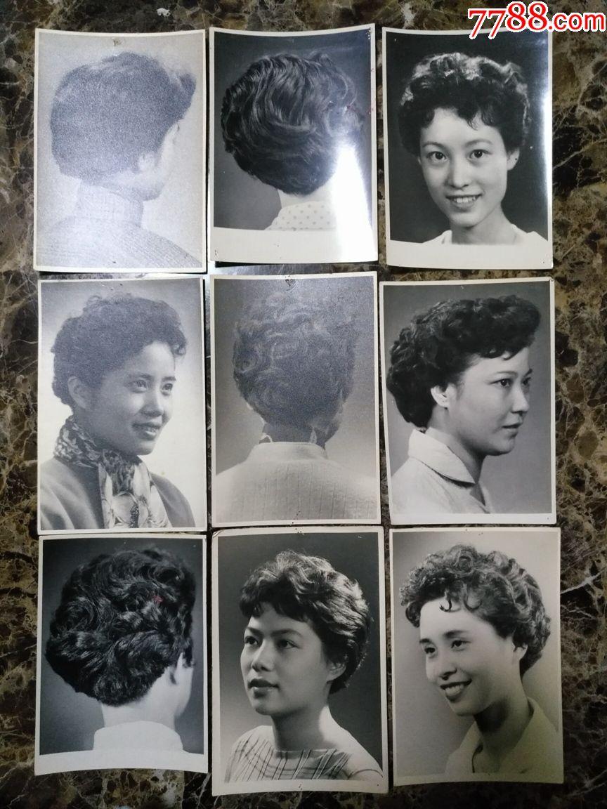 50年代到80年代上海發型照50張,懷舊好素材,尺寸4寸(明信片大小)圖片