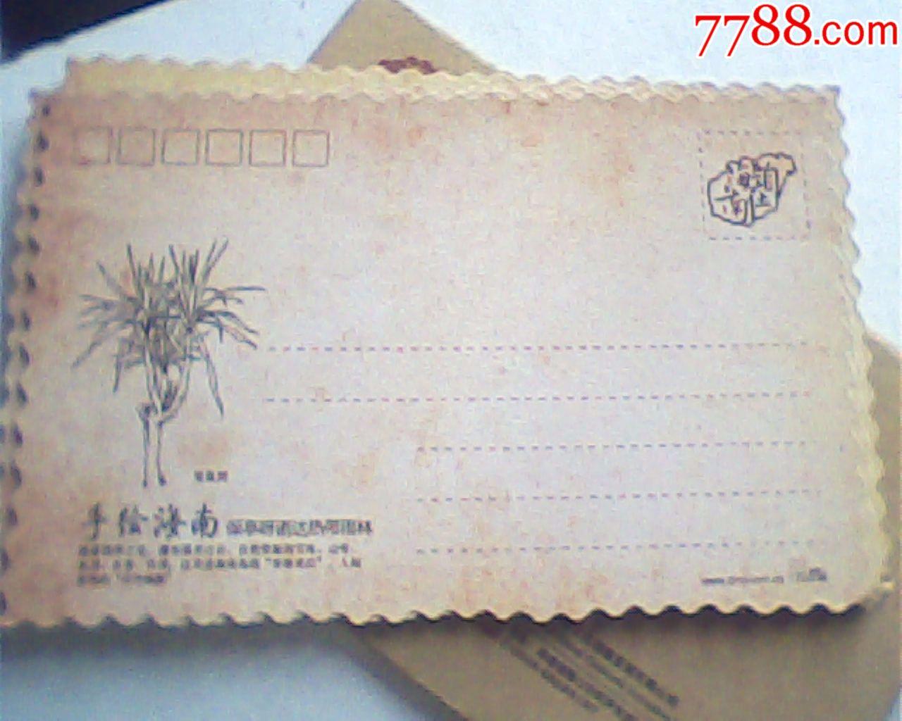 明信片,手绘海南,麦克作品13枚