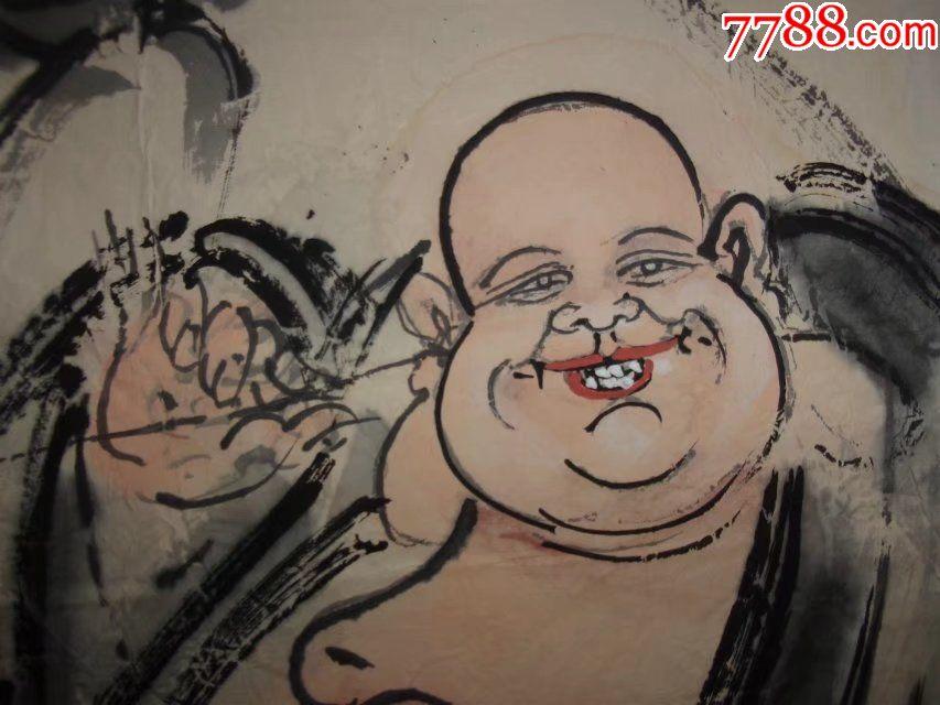 笑面弥勒佛纹身手稿素材