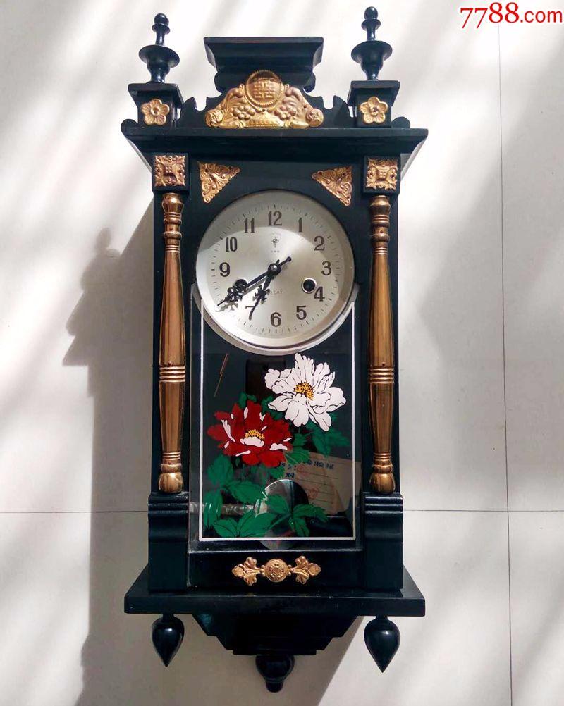 1983年北极星老挂钟实木机械钟整点报时