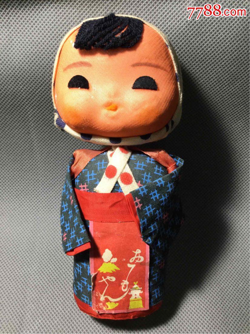二战时期日本纯手工制作的穿和服娃娃