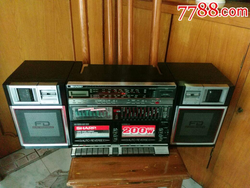 日本sharp-wf一939夏普收录机,夏普录音机