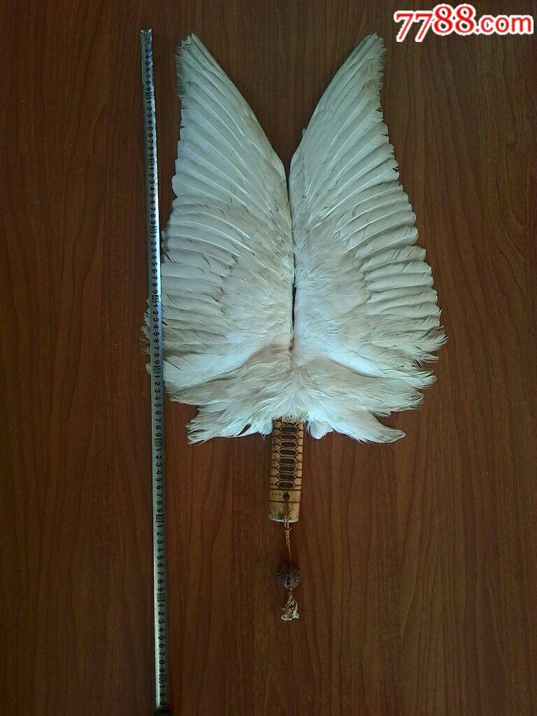 大鹅翅膀手工制作工艺大扇子家庭壁挂件.