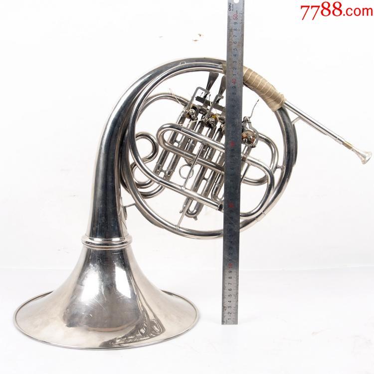 8品老物件乐器二手圆号法国号带箱可以使用音乐餐厅酒吧装饰