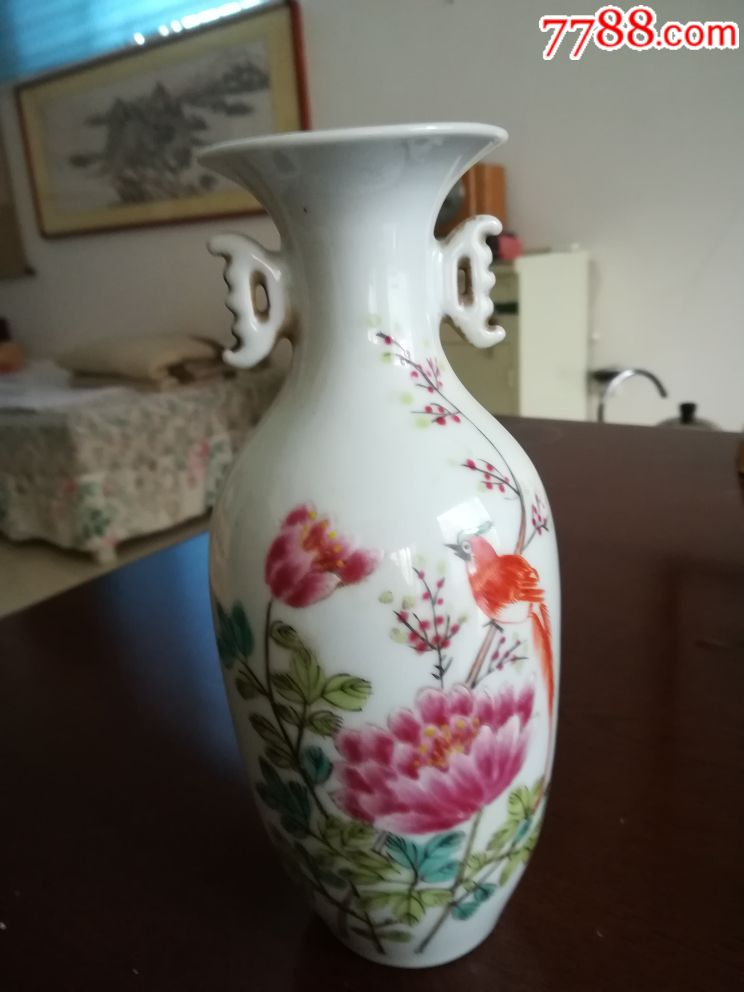 民国景德镇手绘花瓶