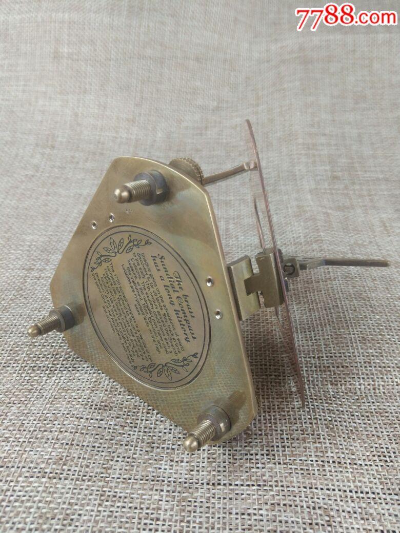 三角形折叠指南针纯铜手工制作指南针海外进口指南针摆件可使用