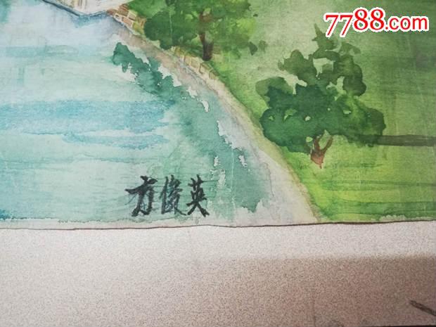 手绘中国地图水粉