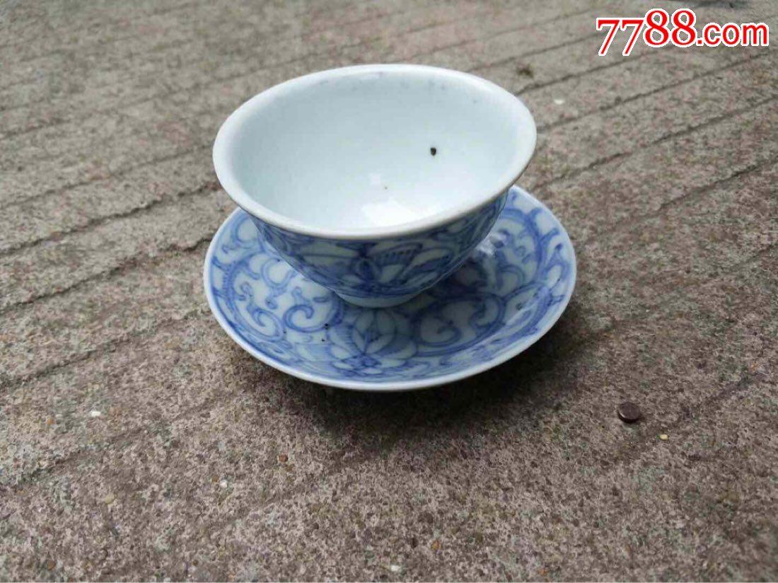 清代青花茶杯一套,品相完整(se57123540)_