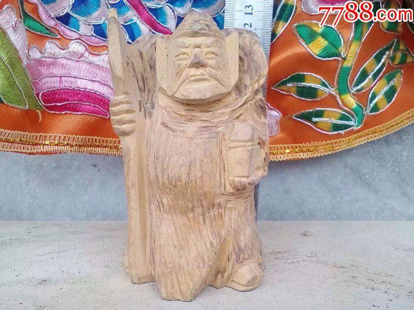 包邮一口价,保证真正小叶黄杨木雕刻人物武将,有点张飞味道