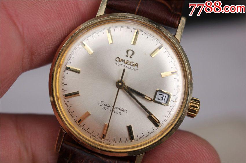 特价秒杀--二手古董14k实金圈欧米茄全自动手表图片