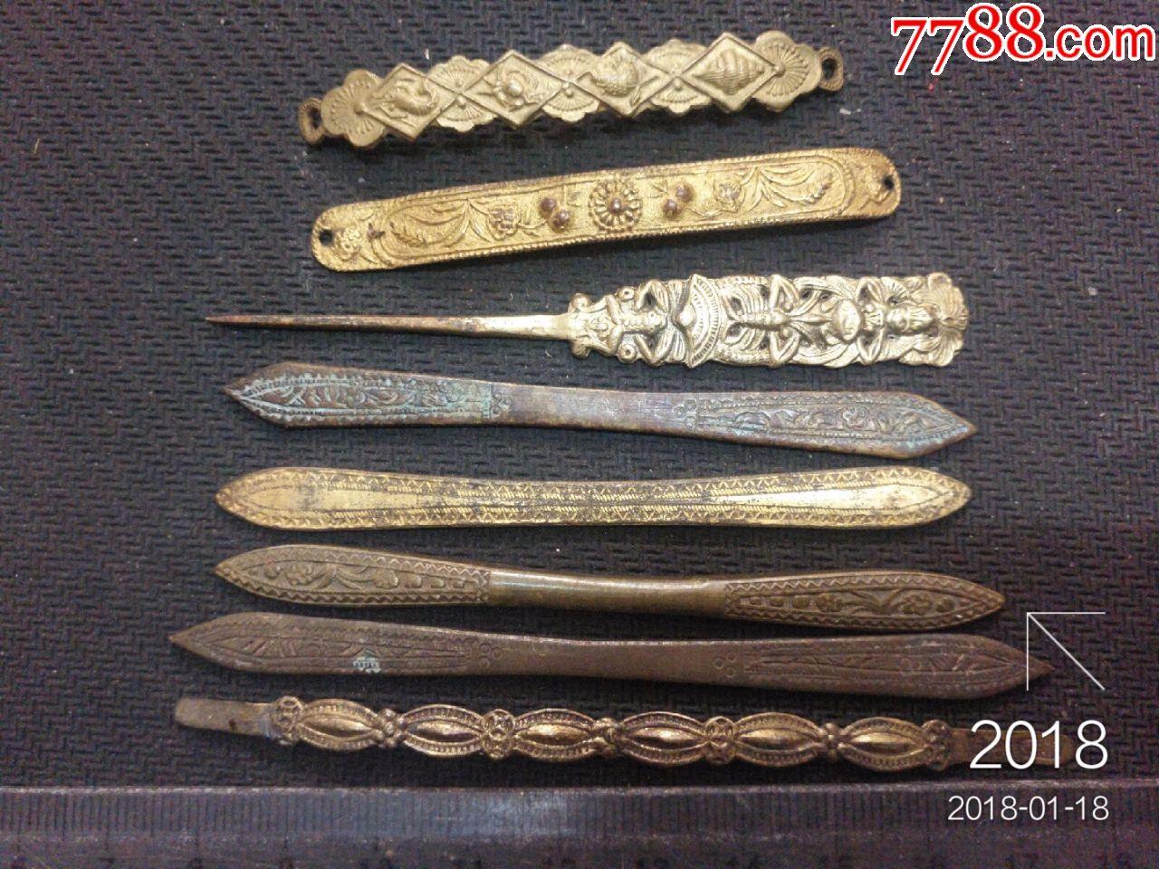 一了八_民国铜簪一组八枚