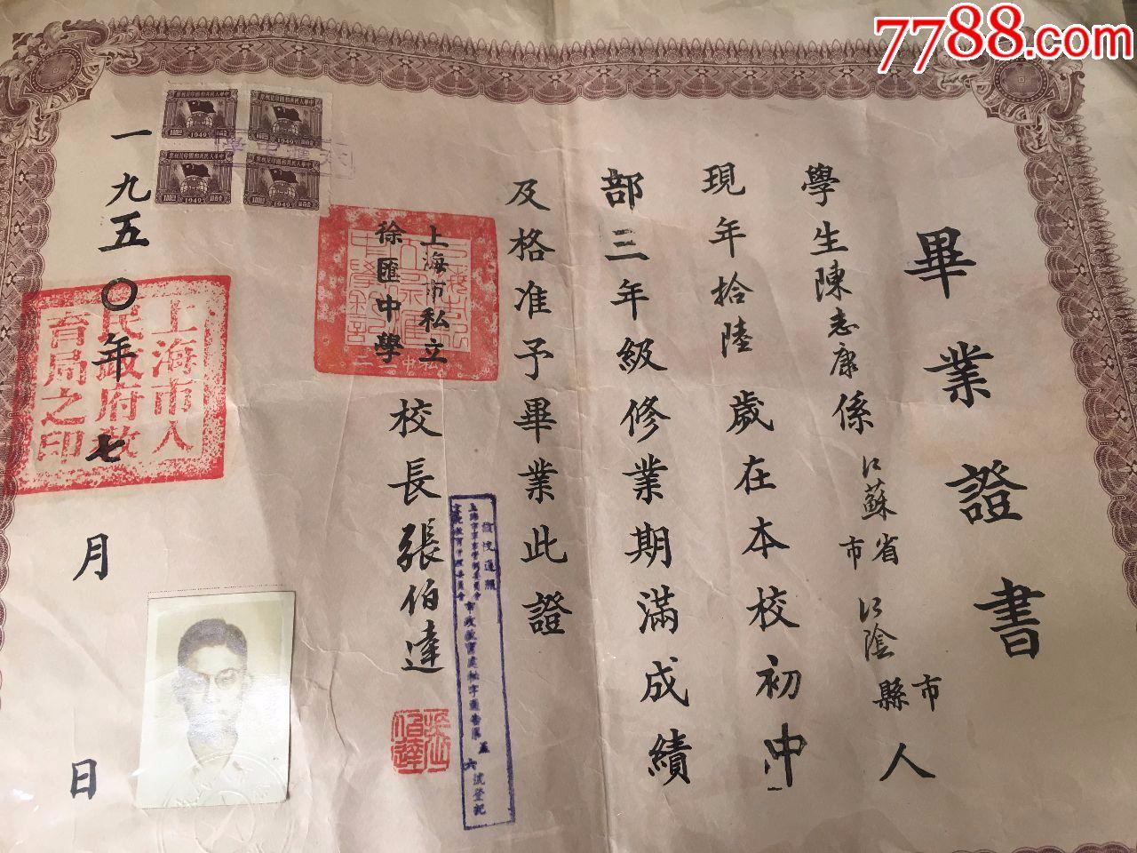 贴初中江阴人的【上海市私立徐汇税票】要求中学有毕业艺术类何证书考高中图片
