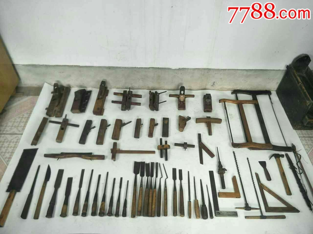 58件老木工工具!件件包老好用!造型奇特罕见!图片