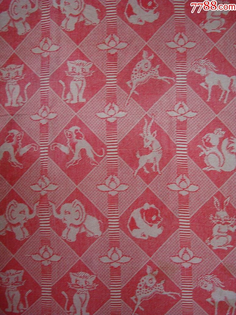 儿童线毯——动物图案.尺寸:1.1米,1.1米_毛毯/线毯