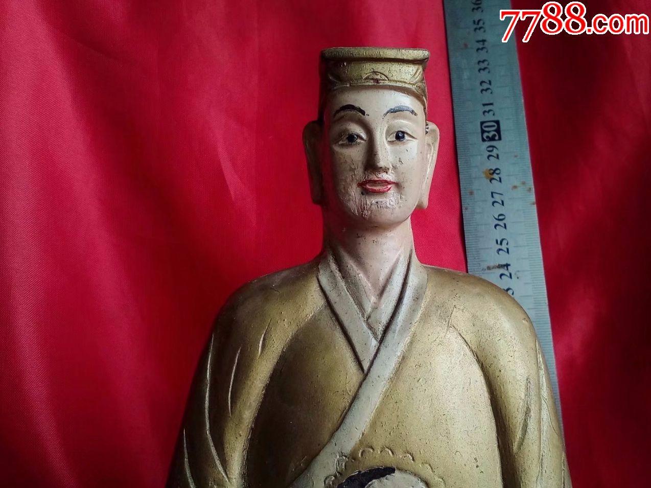 5斤重,香樟木纯手工雕刻人物道教人物神仙道士