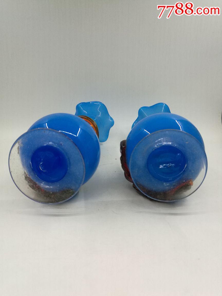 80年代老琉璃花瓶摆件民俗收藏影视道具-价格:60.00... -7788收藏