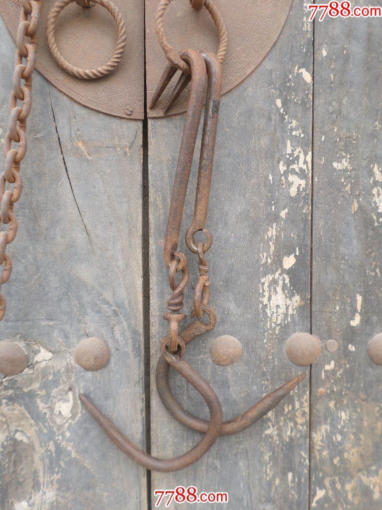 老铁器老旧民俗铁铜老物件金属怀旧收藏品影视剧道具铁挂钩铁肉钩