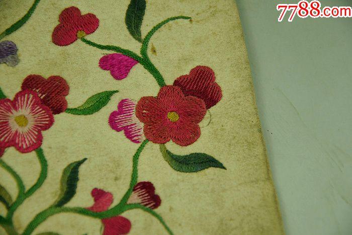 老刺绣绣片枕头顶,老式刺绣绣花,民俗老刺绣,包老包真