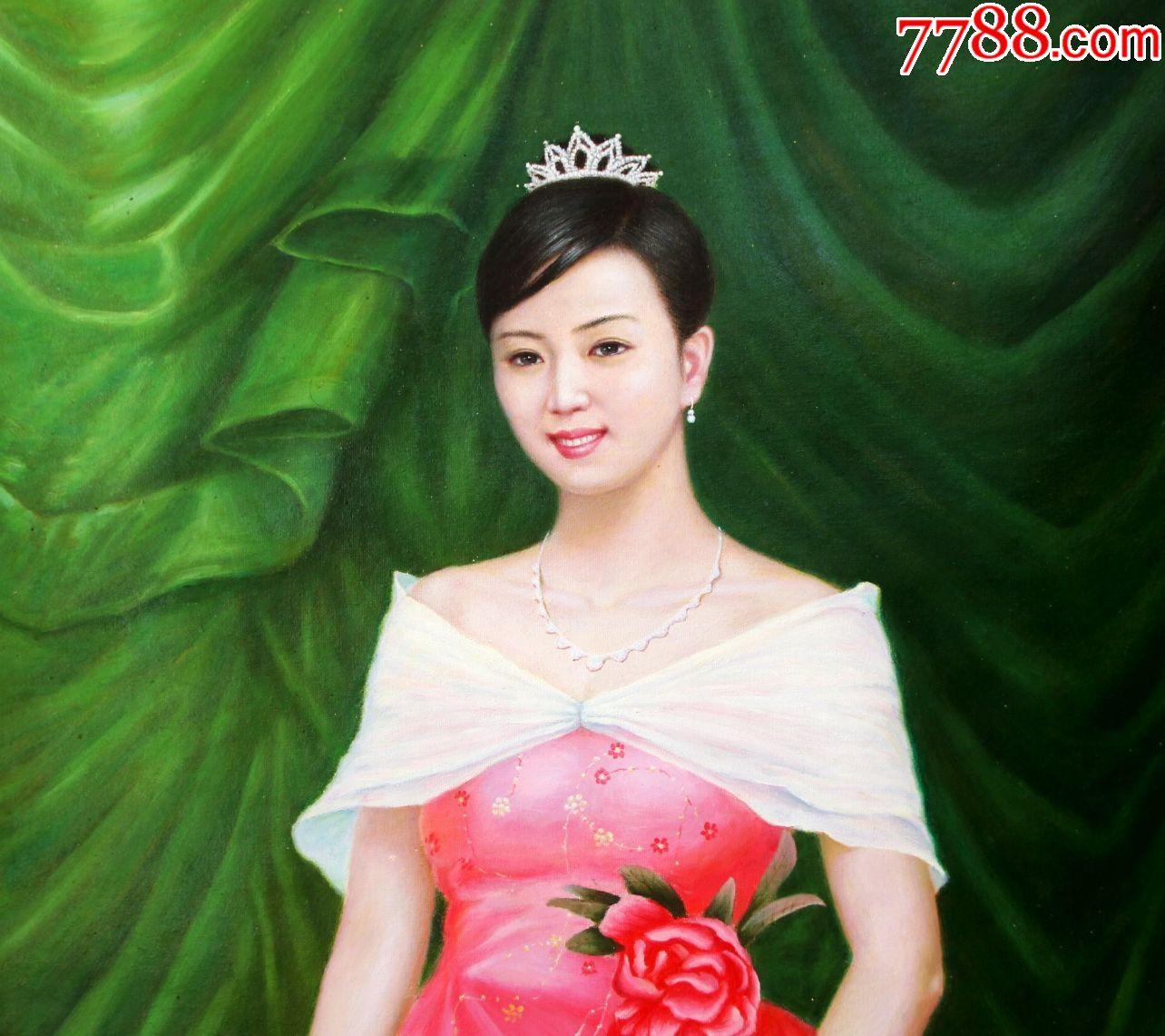朝鲜画朝鲜油画朝鲜人物油画朝鲜一级艺术家申有美图片