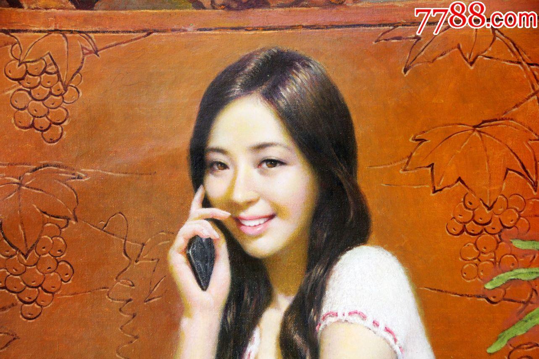 朝鲜画朝鲜油画朝鲜人物油画朝鲜功勋艺术家金光哲图片