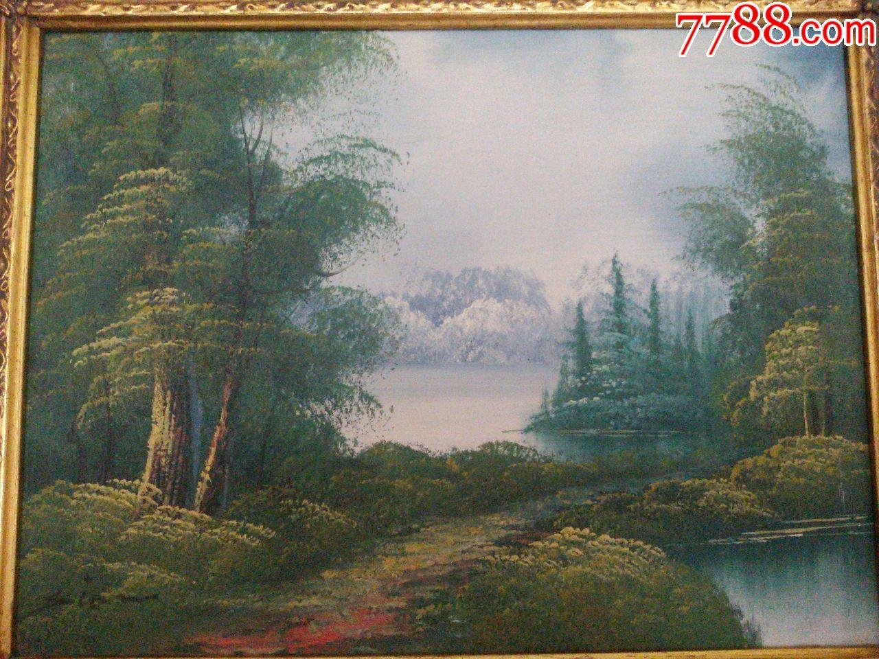 英国风景油画精致画框一幅,英国邮寄!