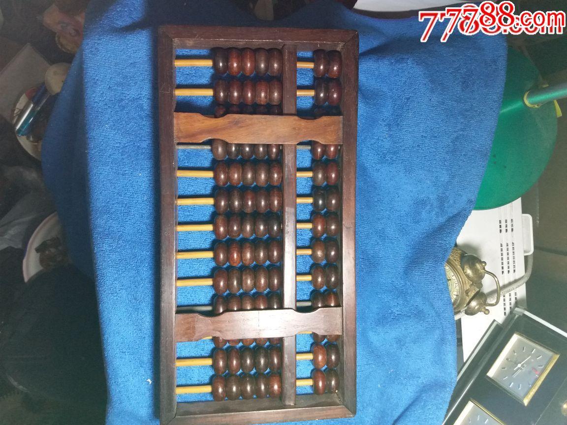 红木算盘,榫卯结构,整体竹木不用金属,收藏佳品