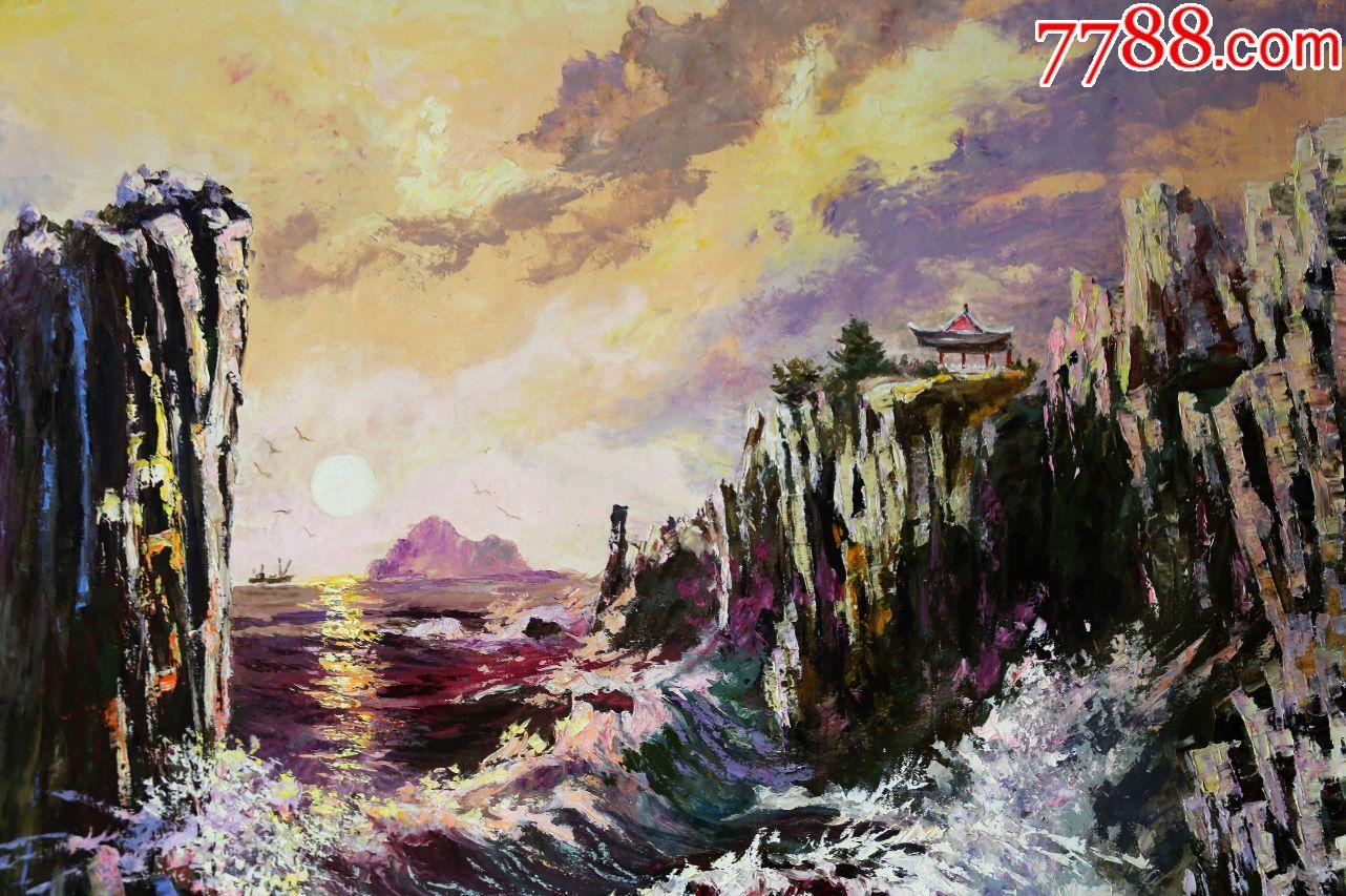 朝鲜画朝鲜油画朝鲜风景油画朝鲜名画朝鲜人民艺术家李华值图片