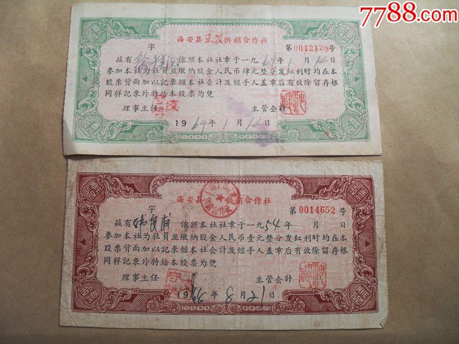 江苏海安县供销合作社
