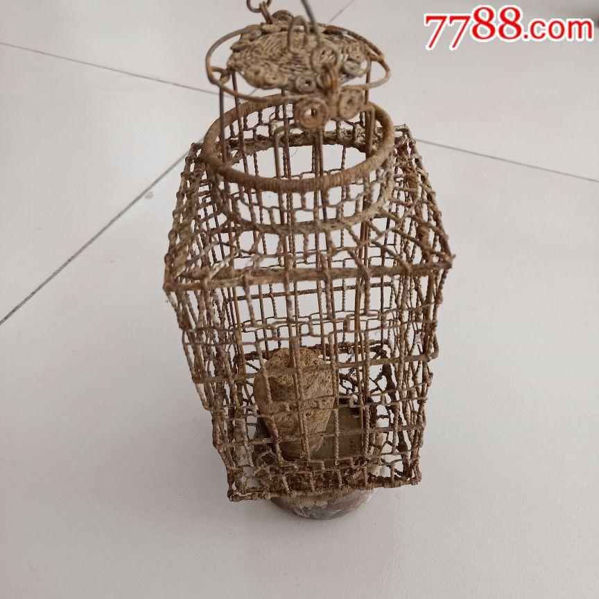 清代铁丝编织灯笼品相完整如图包老保真