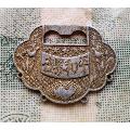 抗美援朝时期地球和平鸽图案的世界和平铝质锁片-¥400 元_政府机关徽章_7788网