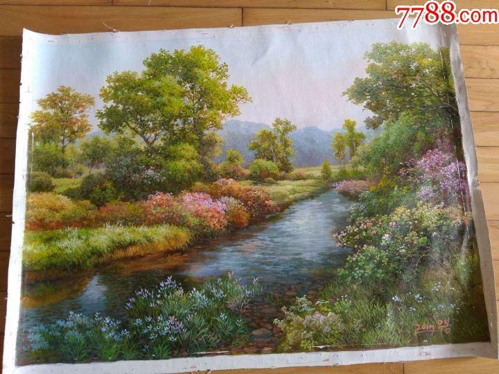 朝鲜油画图片