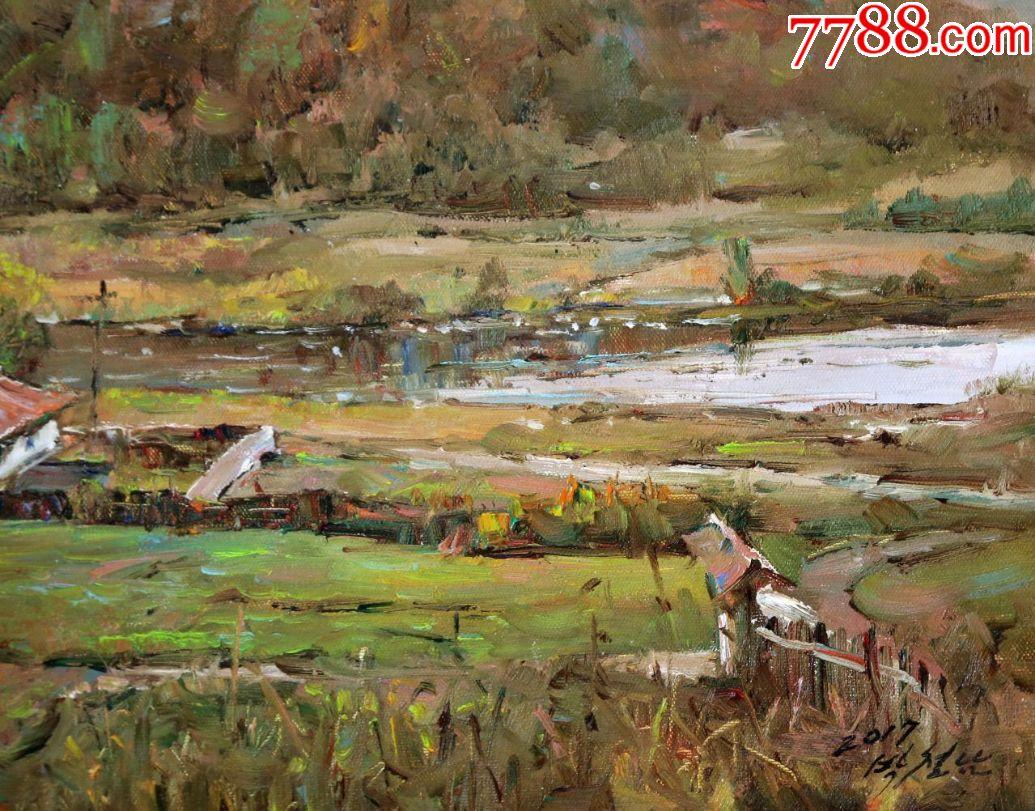 朝鲜一级艺术家朴哲男34,2017,长74宽52