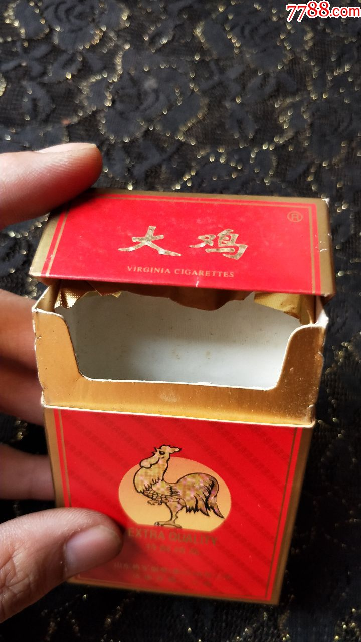 洋人大鸡吧_山东济南卷烟厂/大鸡3d烟标盒/焦油17小警句