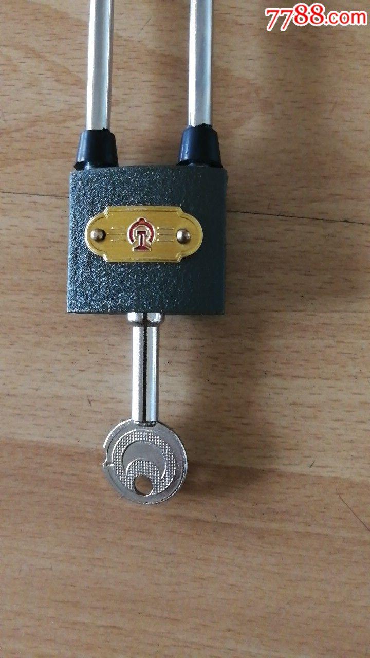 全新未用60年代铁路标记铁锁