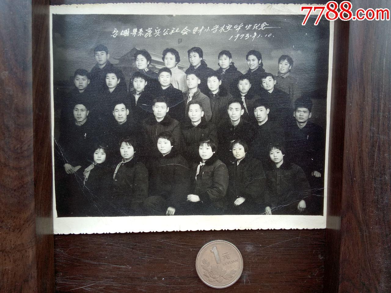 文革老照片(C-75)---1973年安图县亮兵公社财六年级小学生家长v文革图片
