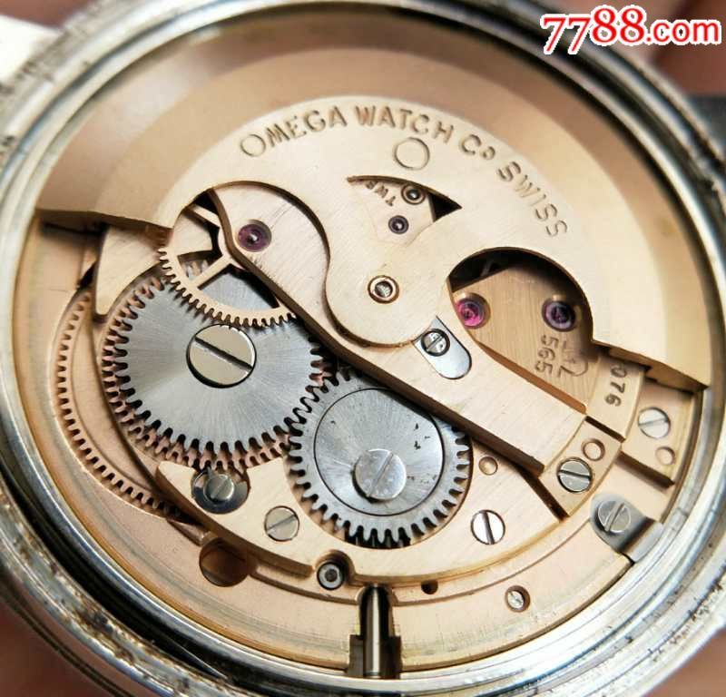 二手手表:瑞士古董欧米茄日内瓦565拉跳王自动机械表图片