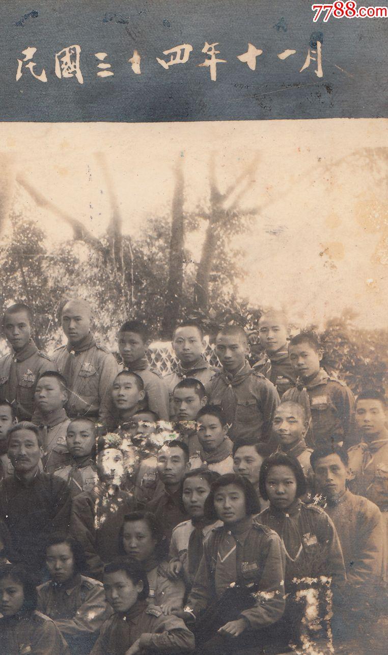 """民国老照片,""""赖汤圆""""创始人赖元鑫资助创办的资阳县私立储彦中学民国"""