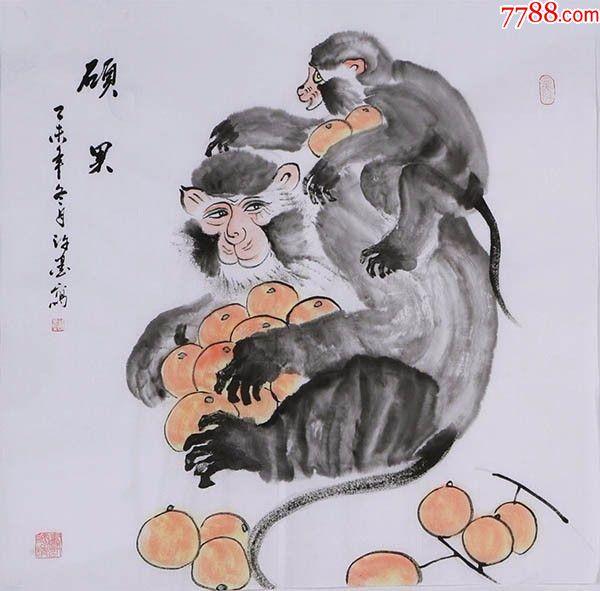 中国画猴子画法步骤