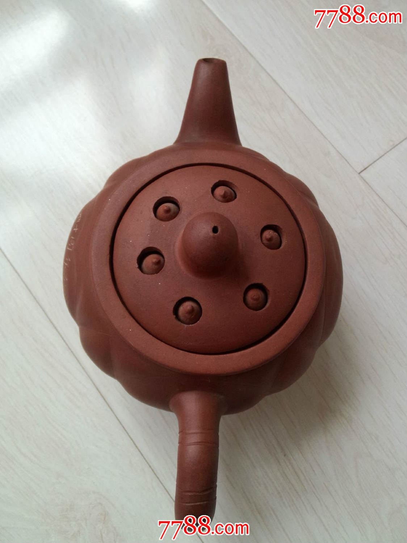 建国40周年手工制作莲子紫砂壶
