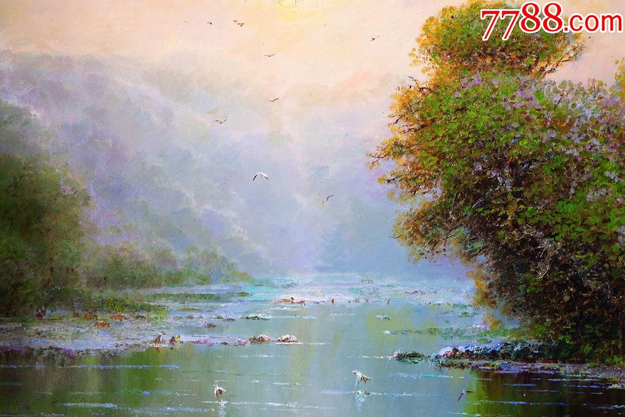 朝鲜油画朝鲜风景画朝鲜人民艺术家金正中