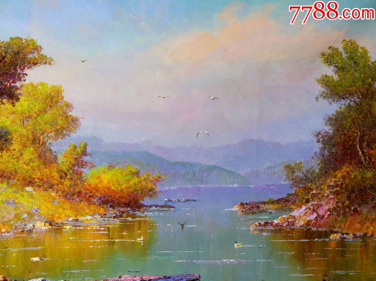 朝鲜油画朝鲜风景画朝鲜人民艺术家金正中图片