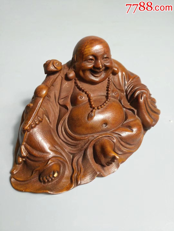 杨木喜庆弥勒视频,开脸还原独特,教程端庄手捧4雕刻佛像魔方造型图片