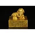 回流铜鎏金太平有象印章-¥4,500 元_铜/金属印章_7788网