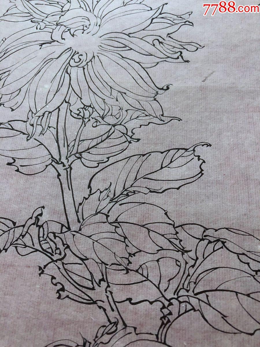 国画原作,636,工笔白描花鸟画