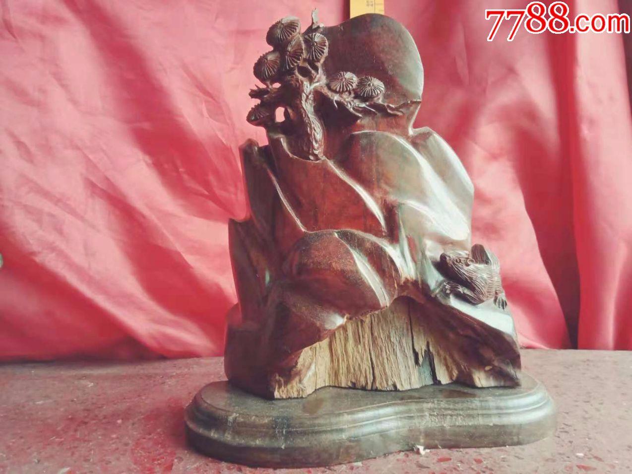 一口价,保证真正小叶紫檀红木春手工雕刻花鸟动物松鼠