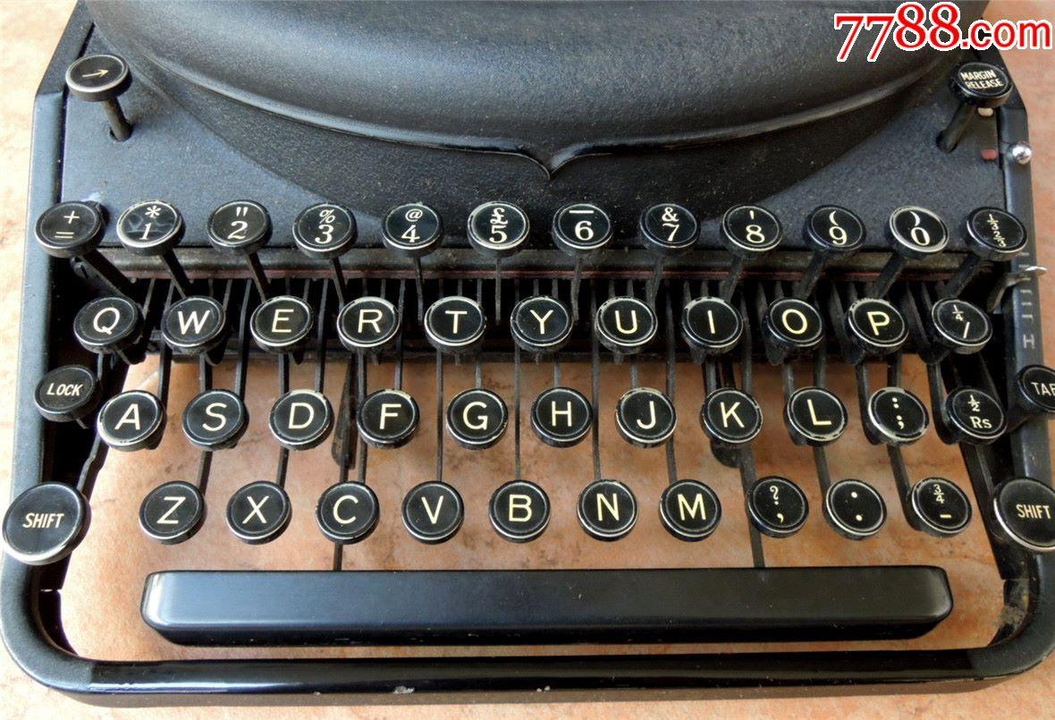 怀旧收藏1810-抗战美军遗留云南雷明顿古董机械打字机