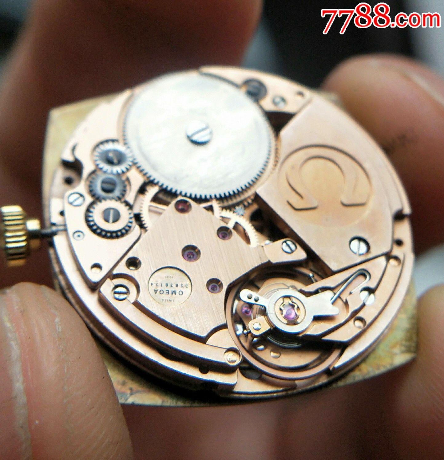 二手手表:瑞士古董欧米茄包金手卷机械表图片