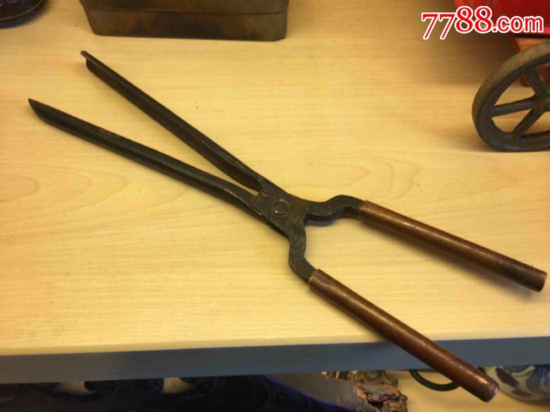 民国时期漂亮的铜柄铁制烫发器