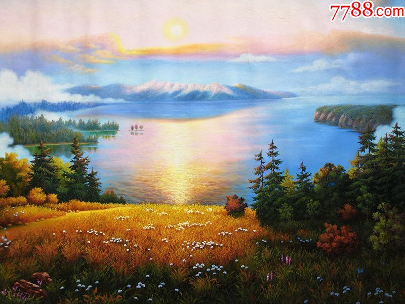 朝鲜人民画家朴英哲风景油画